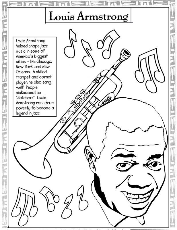 Louis Armstrong Coloring Sheet