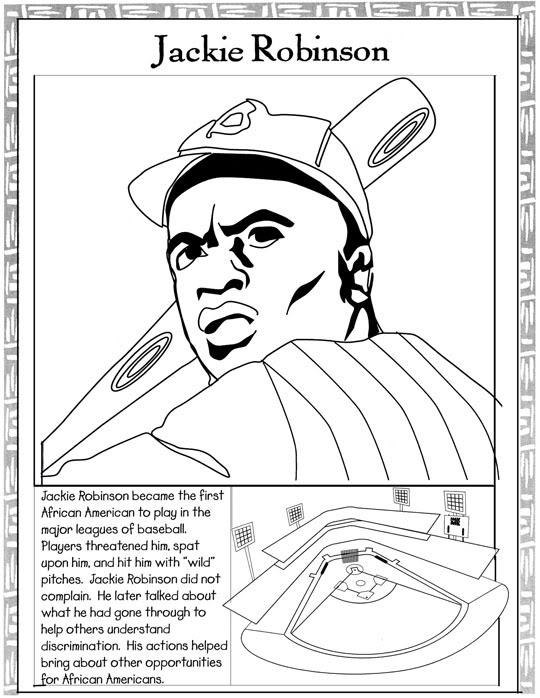 Jackie Robinson Coloring Sheet