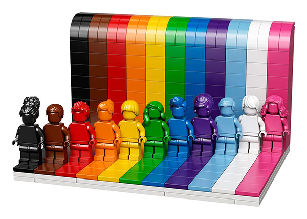the Pride 2021 Everyone is Awesome LEGO® set